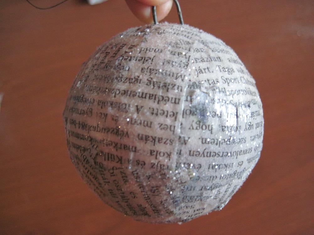 csillámos gömb