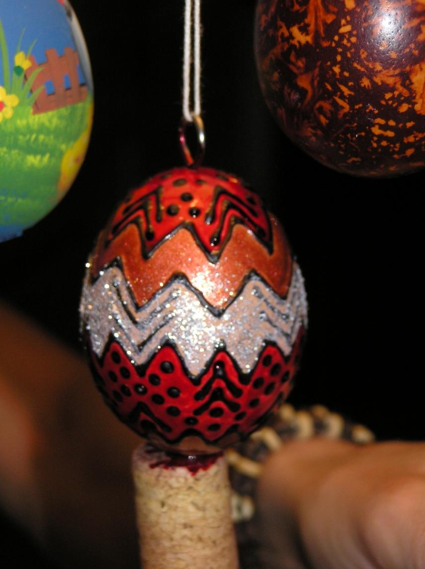a készre festett tojás