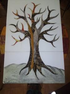 Kész fa háttér nélkül
